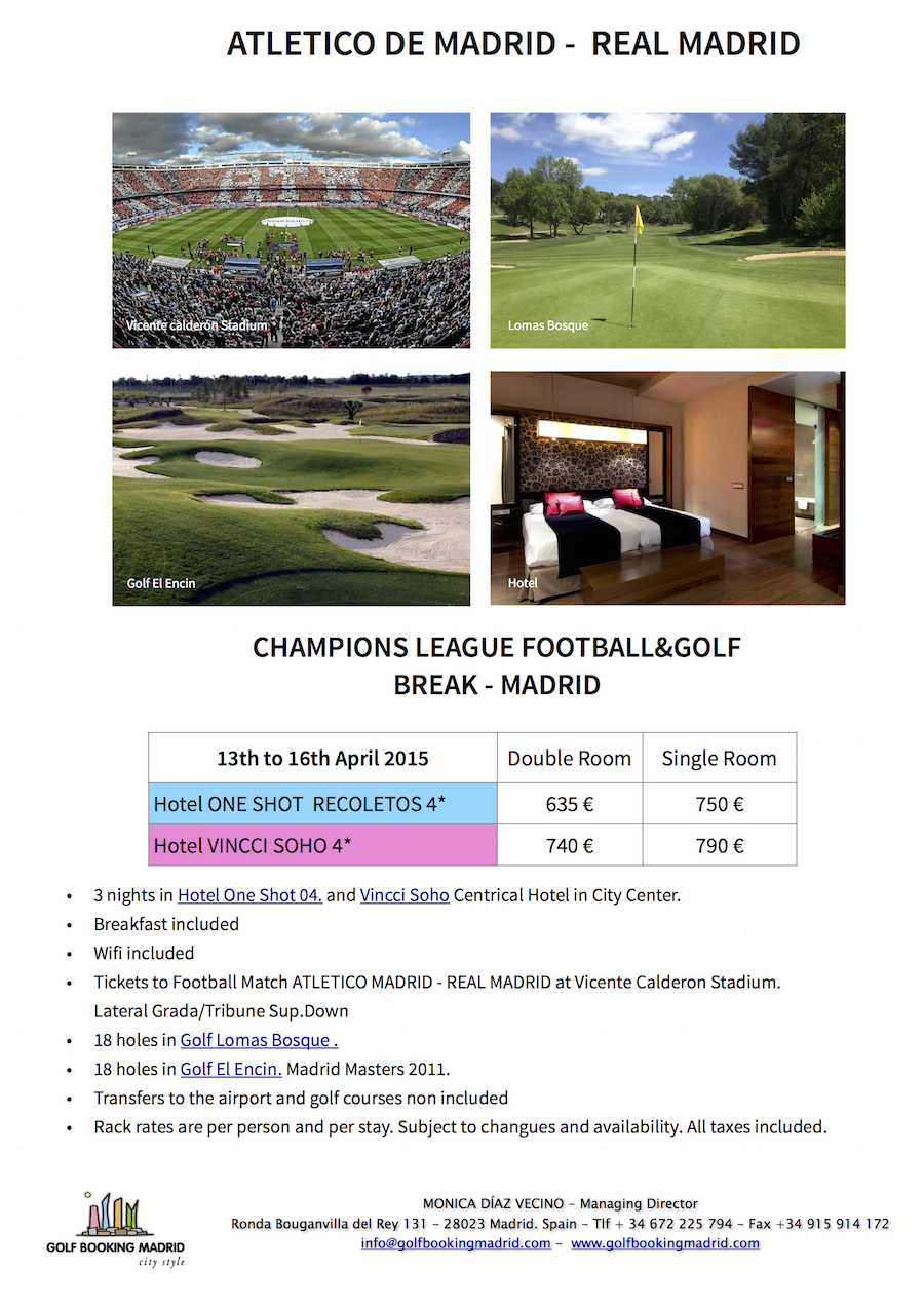 Champions League Golf Package
